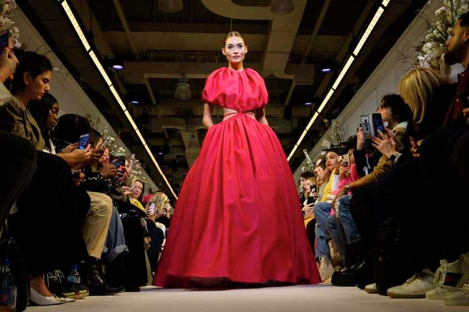 NEW YORK, NEW YORK - FEBRUARY 09: Model Grace Elizabeth walks the runway at the Brandon Maxwell fashion show during New York Fashion Week on February 09, 2019 in New York City. (Photo by Peter White/FilmMagic,) Photo: Peter White/FilmMagic / 2019 Peter White