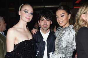 BEVERLY HILLS, CA - FEBRUARY 10:  (L-R) Sophie Turner, Joe Jonas and Hailee Steinfeld at Republic Records Grammy after party at Spring Place Beverly Hills on February 10, 2019 in Beverly Hills, California.