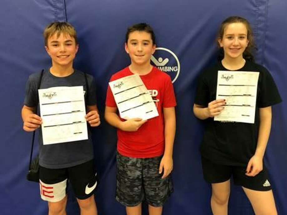 The Monroe Parks and Recreation Department has announced the winners of the second Basketball HotShots Shooting Contest.The winners of the 11 to 12-year-old boys category were Jackson Zylick (first place with 98 points) and Mitch DeBarnado (second place with 95 points). The first place winner in the 11 to 12-year-old girls category is Lexi Sutton (58 points). Photo: Contributed / Monroe Parks And Recreation Department