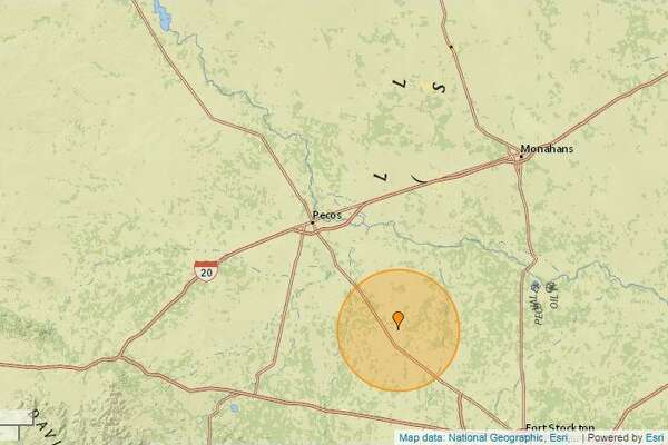 On January 7, a 2.6-magnitude quake was reported 23 miles southeast of Pecos