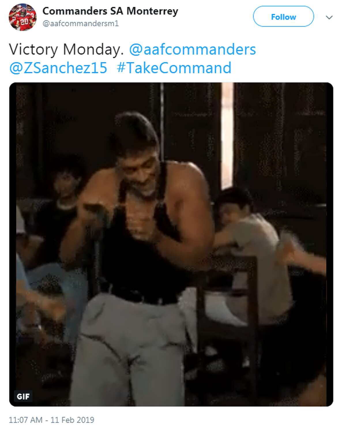 @aafcommandersm1: Victory Monday. @aafcommanders @ZSanchez15  #TakeCommand