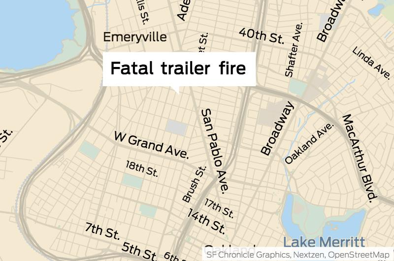 Rv Fire In West Oakland Kills Man Sfchronicle Com