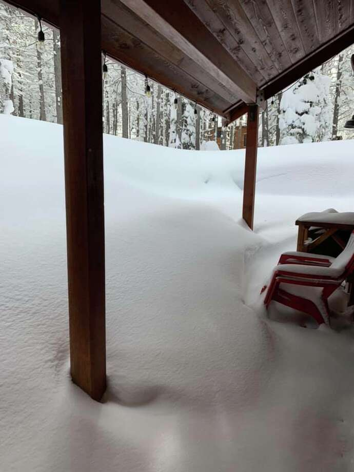 Snow piled up high in Truckee after a snowstorm on Feb. 9 and 10, 2019. Photo: Tonia Allen Gould