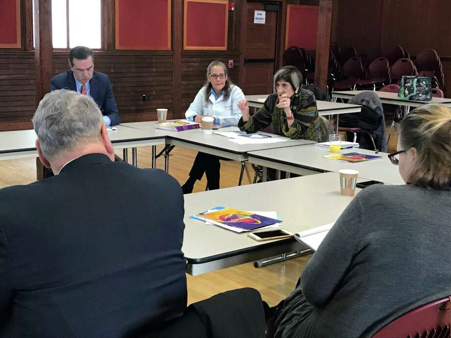 U.S. Rep. Rosa L. DeLauro, D-3, meets with school officials from around her district to receive feedback on the biggest issues facing students and schools. Photo: Brian Zahn / Hearst Connecticut Media