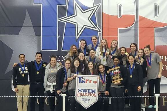 The St. Agnes Academy swimming and diving team won its fourth consecutive TAPPS Division I state championship Feb. 8 in Mansfield. The Tigers amassed 420 points for a dominant 190-point margin of victory.