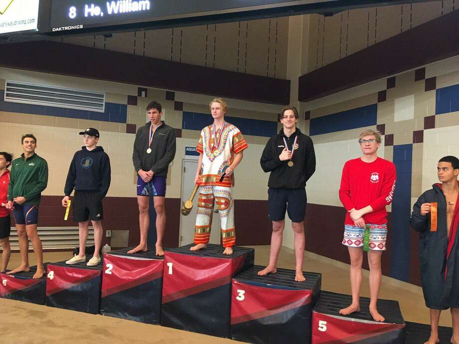 Spring Woods junior Samuel Jennings finished third in the 100-yard backstroke Feb. 2 at the Region IV-6A championships at Conroe ISD Natatorium. His time of 51.06 seconds earned a call-up to the UIL state meet. Photo: Spring Woods High School / Spring Woods High School