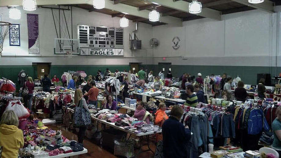 A view of one of 2018's Mom2Mom sales at Trinity Lutheran School. Photo: For The Intelligencer