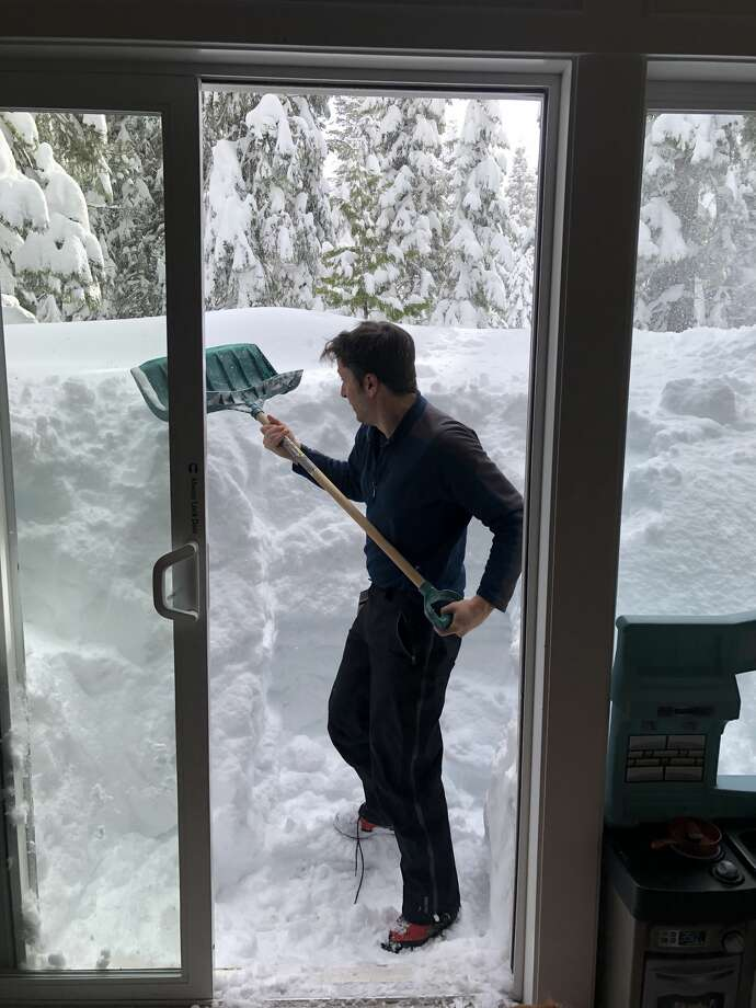 Eric Dilda and his family found themselves snowed in over the weekend. Photo: Eric Dilda
