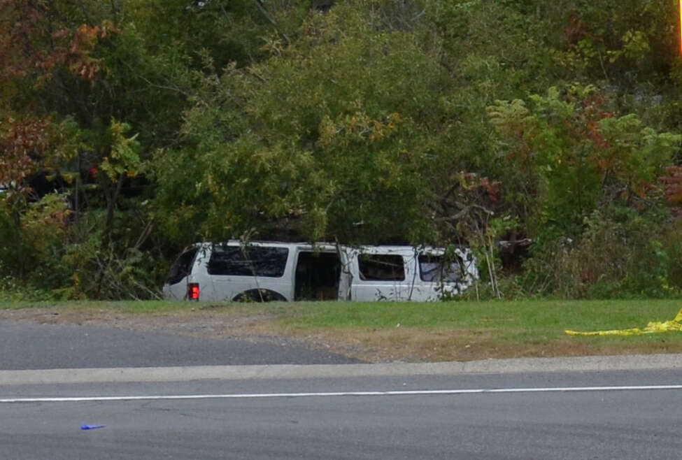 The National Safety Transportation Board released this image of the Oct. 6, 2018, limo crash site in Schoharie, N.Y. in a Feb. 11, 2019, preliminary report. The NTSB is investigating the crash in order to issue safety recommendations to prevent similar tragedies in the future.