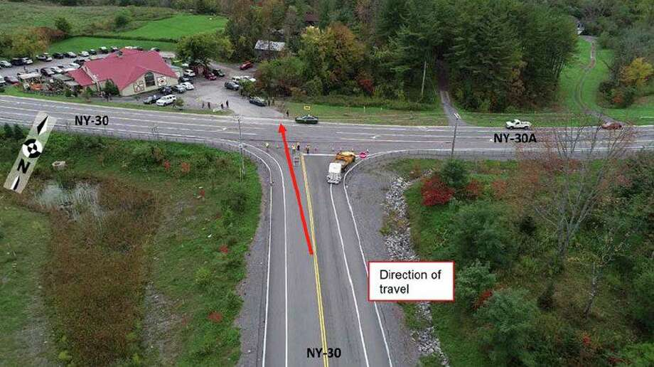 The National Safety Transportation Board released this image of the Oct. 6, 2018, limo crash site in Schoharie, N.Y. in a Feb. 11, 2019, preliminary report. The NTSB is investigating the crash in order to issue safety recommendations to prevent similar tragedies in the future. Photo: NTSB