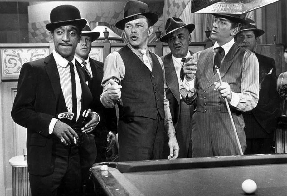 "Sammy Davis, Jr. (left), Frank Sinatra and Dean Martin in 1964's ""Robin and the Seven Hoods."" Photo: Photofest / A&E / handout"