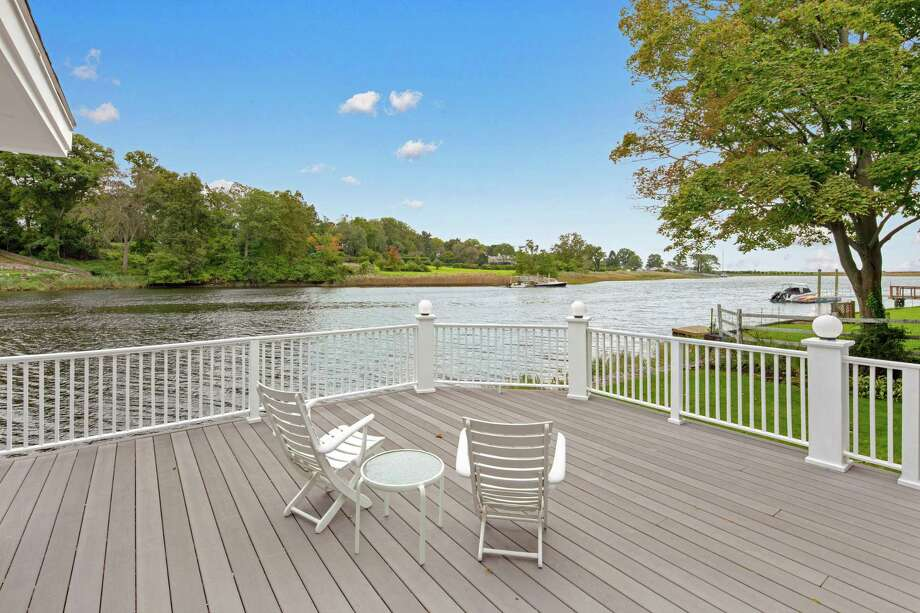 The deck provides a viewing platform for daily enjoyment of the water and local birds, and for the annual Blessing of the Fleet and Fourth of July fireworks.