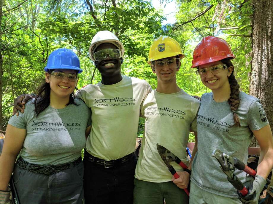The NorthWoods Stewardship Center has begun hiring local conservation crew leaders and members for the 2019 Youth Conservation Corps (YCC) field season at the Stewart B. McKinney National Wildlife Refuge in Westbrook. Local youth age 15-20 are hired to complete conservation work on public lands 40 hours per week for 6-8 weeks from June through August. Hiring continues through April. To apply, visit northwoodscenter.org to learn more and apply, or contact corps@northwoodscenter.org, or 802-723-6551x304. Photo: Contributed Photo