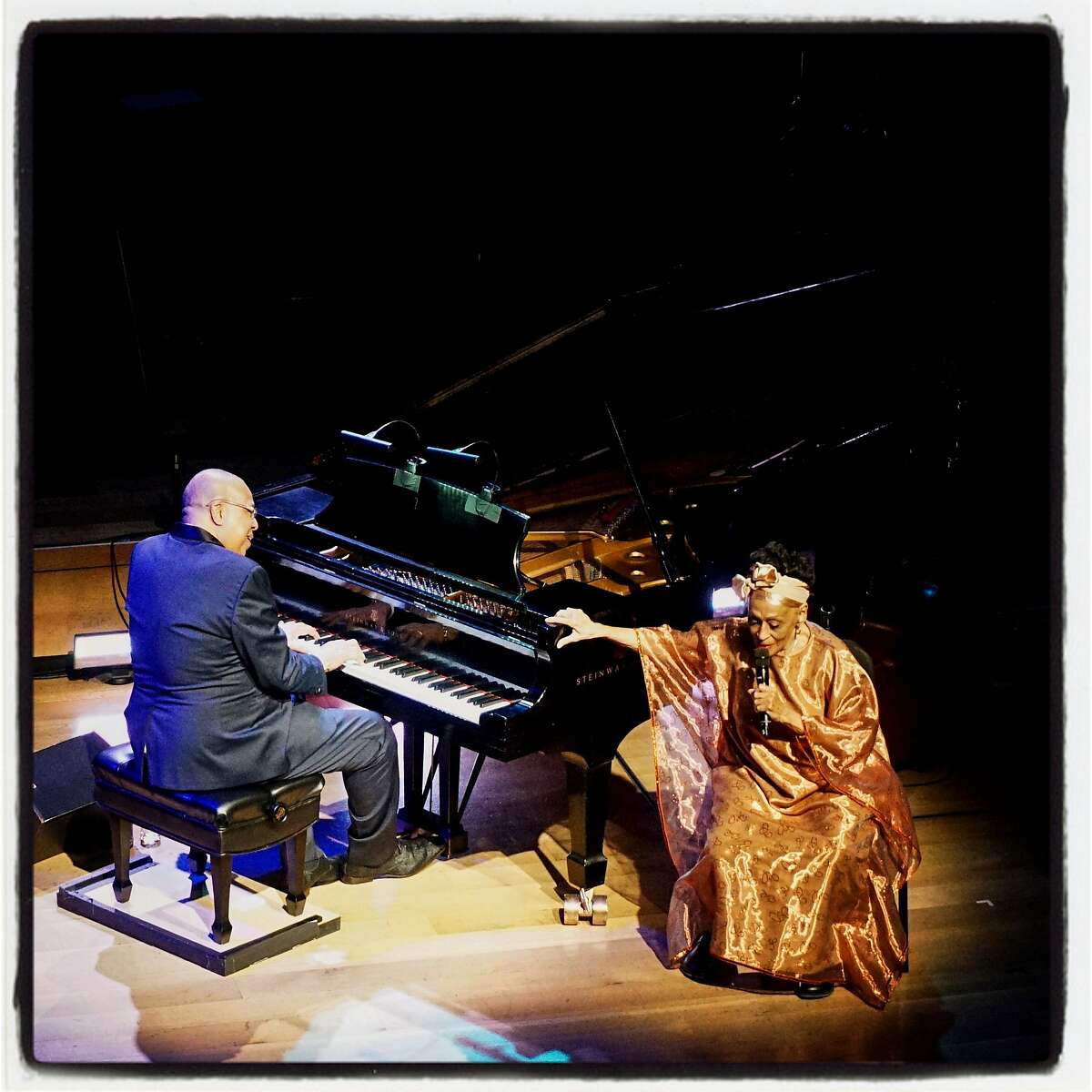 Cuban music legends Chucho Valdes (on piano) and Ombra Portuondo starred at SFJazz gala. Jan. 31, 2019.