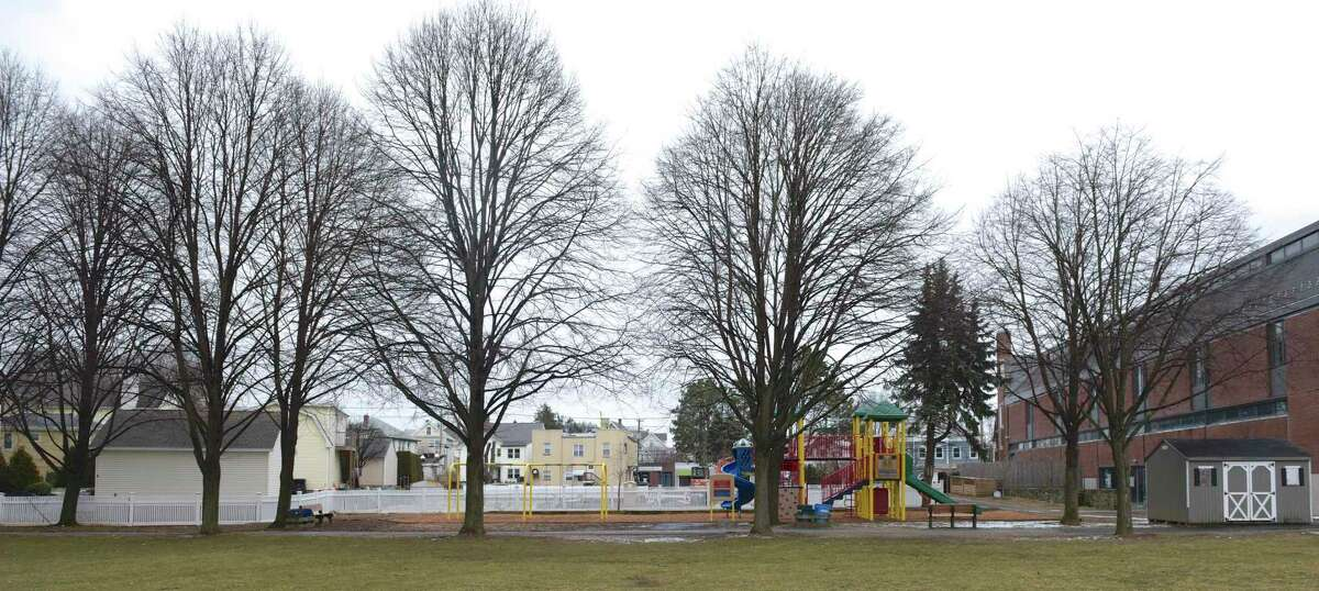 Neighbors of Hamilton Avenue School would like to see improvements to the schools field, they feel it is in poor condition. Friday, January 19, 2019, in Greenwich, Conn.