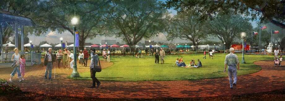 Proposed improvements to League Park are aimed at paying homage to League City's roots and highlighting the facility's old oaks.