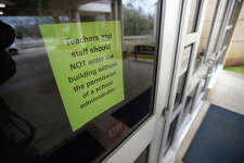 Newton Independent School District are closing their campuses this week after an employ was treated for meningitis. The elementary school will undergo a cleaning Tuesday and Wednesday. A sign at the elementary school advises Monday that no one enter the building. Photo taken Monday, 2/11/19