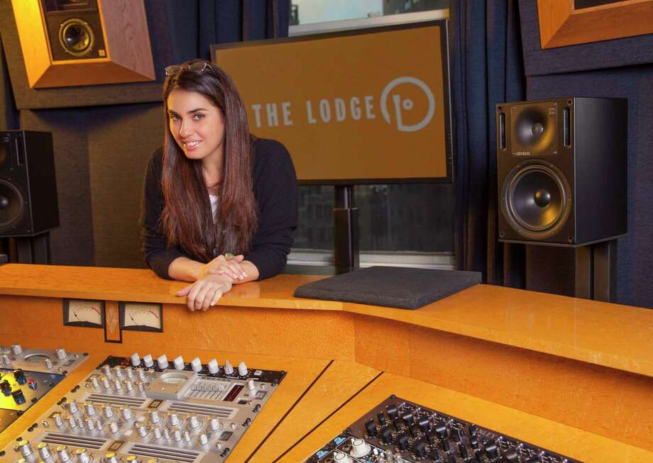 """Emily Lazar, a member of the Skidmore College Class of 1993, won a Grammy for Best Engineered Album, Non-Classical for her engineering work on Beck's """"Colors"""" album. She is the first woman to win in the category. (Photo by Becky Yee/Around Digital Media) Photo: Becky Yee / Around Digital Media"""
