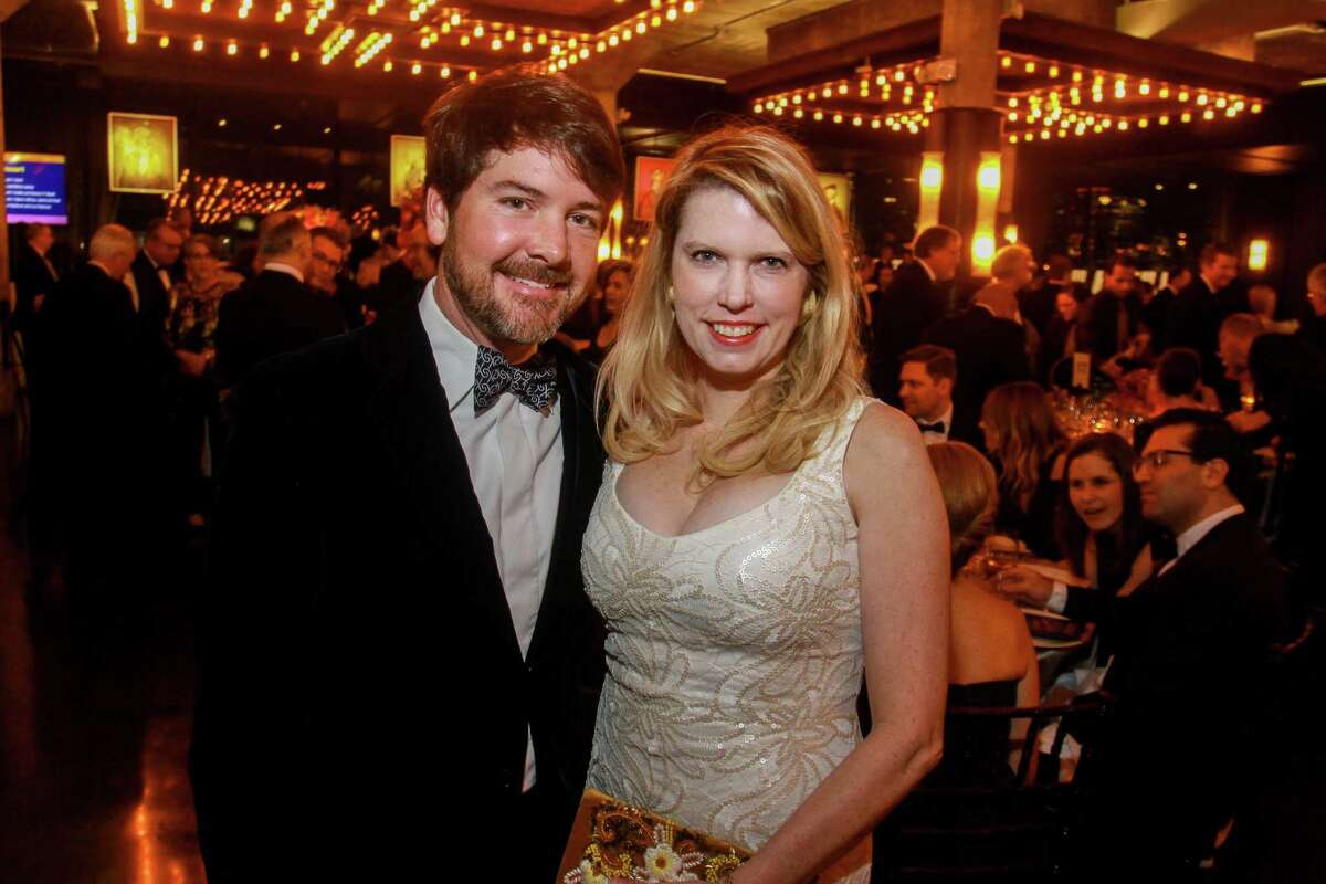 Bill and Courtney Toomey at the Houston Symphony's annual Wine Dinner and Collector's Auction at the Astorian.