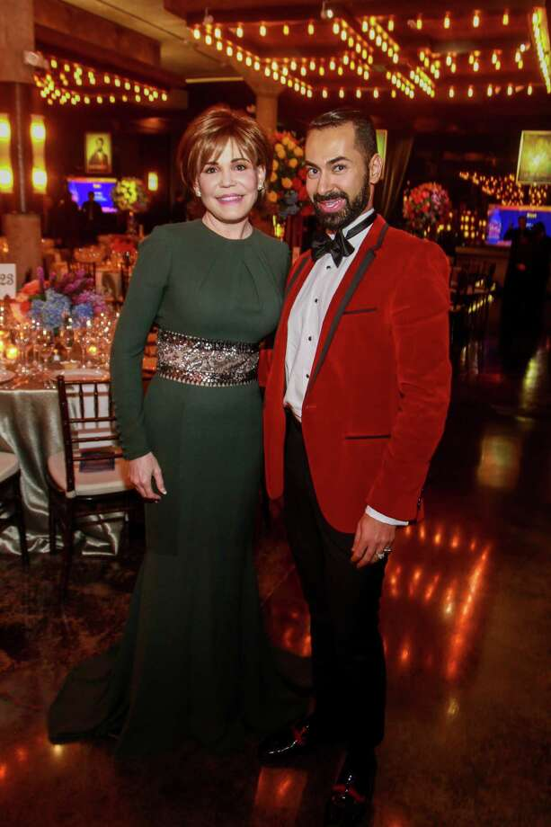 Hallie Vanderhider and Fady Armanious at the Houston Symphony's annual Wine Dinner and Collector's Auction at the Astorian. Photo: Gary Fountain, Contributor / © 2019 Gary Fountain