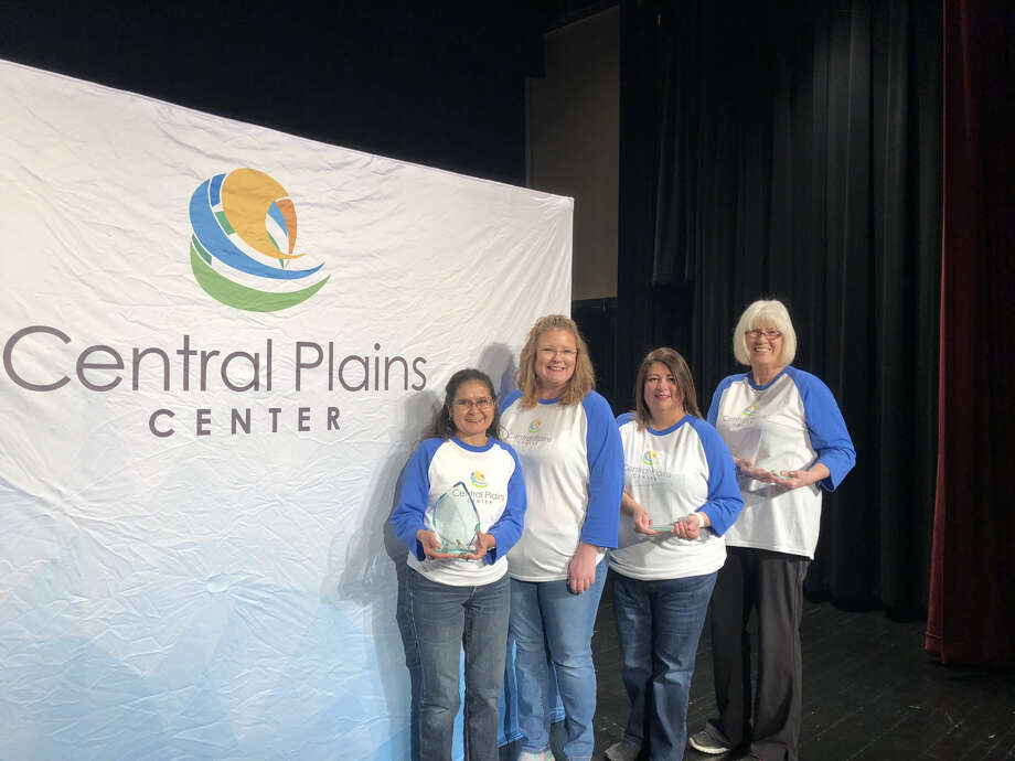 Left to Right: Josie Perez, 30 years; Sherri Bohr, CEO, who presented the plaques; Sally Pacheco, 25 years; and Joan Chapman, 25 years. Photo: Courtesy Photo