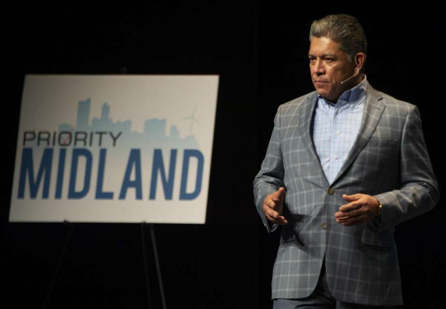 Mayor Jerry Morales welcomes more than 1000 attendees 02/11/2019 to the kickoff event of Priority Midland. A initiative to bring Midland area leaders, community members ad taxing entities together for the betterment of Midland. Tim Fischer/Reporter-Telegram Photo: Tim Fischer