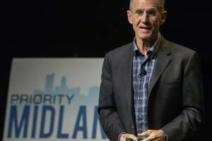 General (Ret.) Stanley McChrystal speaks 02/11/2019 at the kickoff event of Priority Midland. A initiative to bring Midland area leaders, community members ad taxing entities together for the betterment of Midland. Tim Fischer/Reporter-Telegram