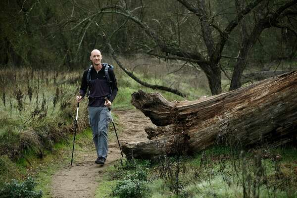 Roland Banas hikes the trails at the Ancil Hoffman Park, on Wed. January 30, 2019, in Carmichael, Ca. Banas just completed a solo thru-hike across Death Valley National Park a few weeks ago.