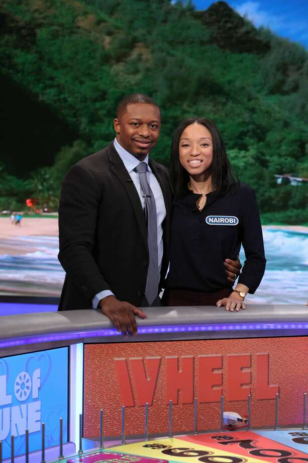 """Nairobi and Andres Vives of Albany will be contestants on Wheel of Fortune on Tuesday, Feb. 12, 2019, as part of """"Sweethearts Week."""" Photo: Carol Kaelson/Photographer"""