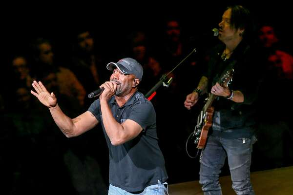 Darius Rucker performs in concert at the San Antonio Rodeo on Monday.
