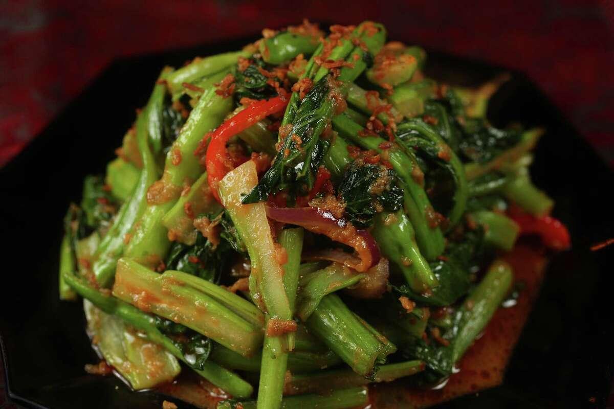 Sambal Stir-fried Yu Choy at Phat Eatery