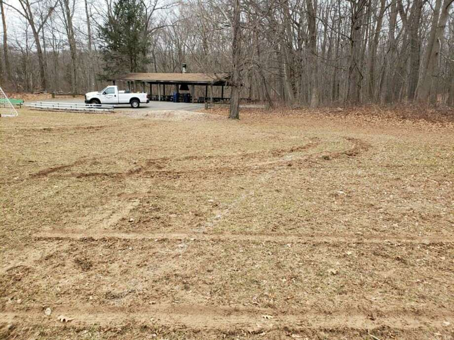 City officials announced that the soccer field at the Ansonia Recreation & Nature Center was vandalized Monday evening. Photo: City Of Ansonia Facebook.