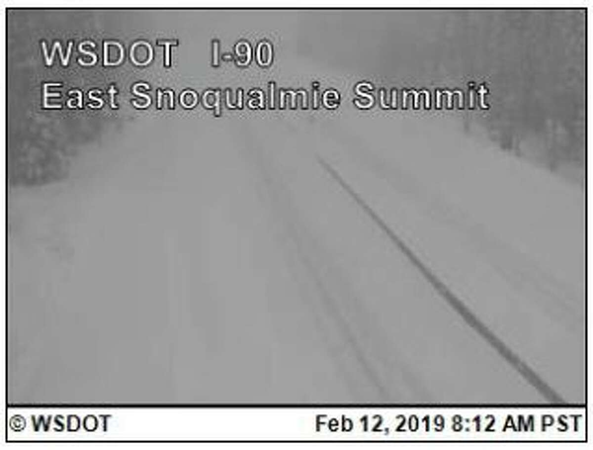 Snoqualmie Pass was completely closed Tuesday morning due to heavy snow, poor visibility and avalanches. A re-opening time was not set and it was not expected to re-open until conditions improved.