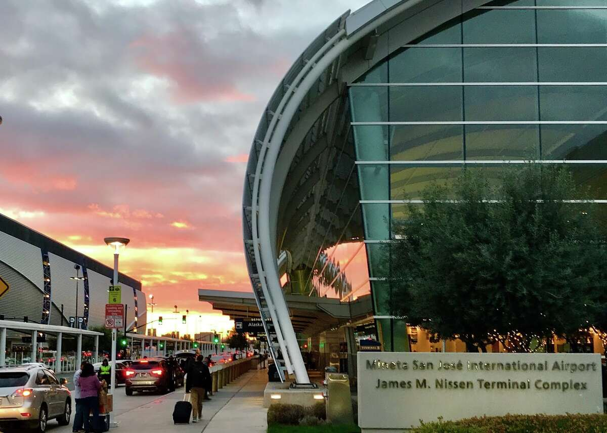 A gorgeous sunrise greets passengers at fast-growing Mineta San Jose International Airport on Feb 11, 2019