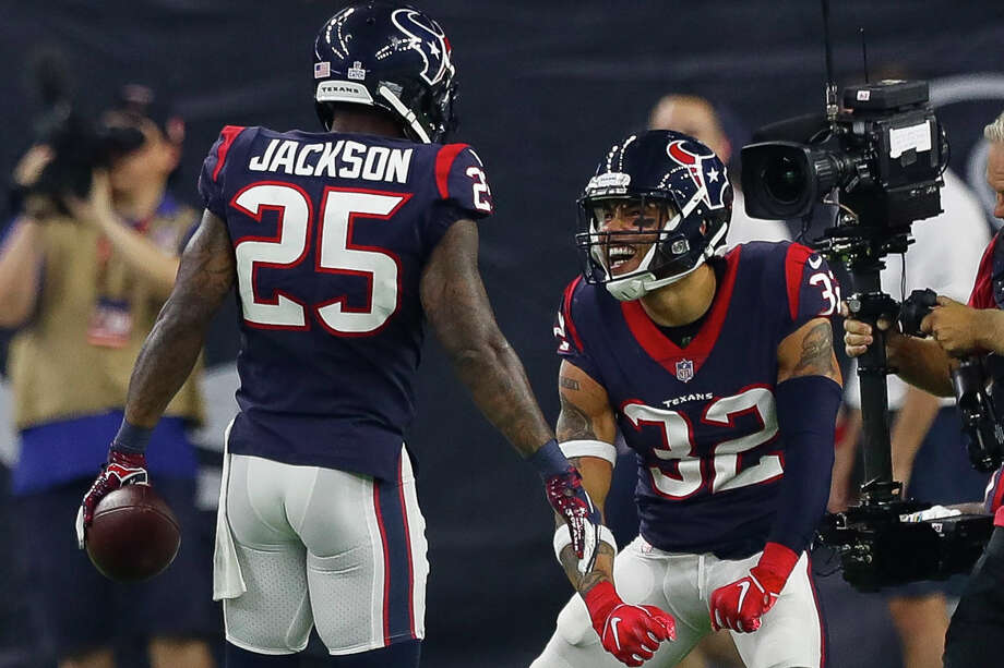 The Texans may encounter a problem in keeping both Kareem Jackson and Tyrann Mathieu in their secondary next season. Photo: Brett Coomer / Staff Photographer / © 2018 Houston Chronicle