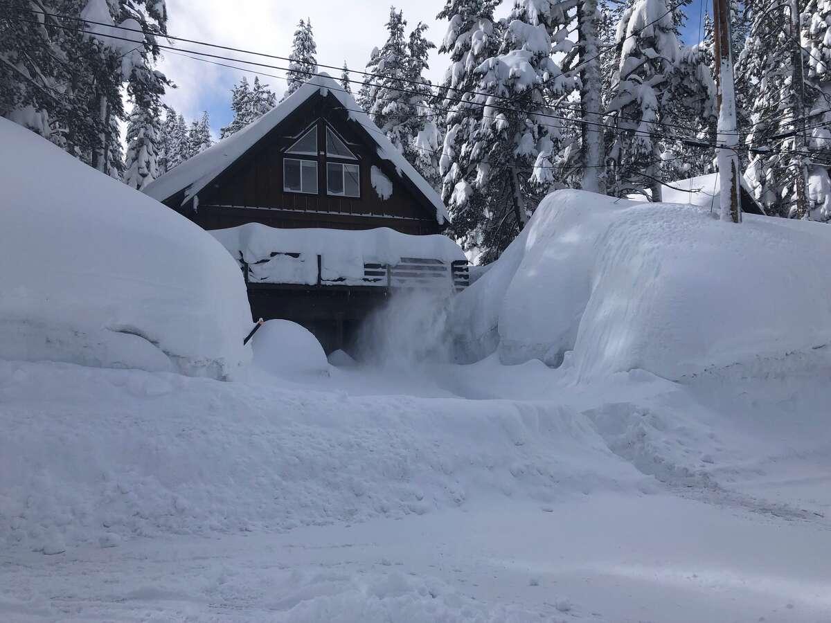 Carol Linburn shares photos of a snow-buried cabin near Lake Tahoe.