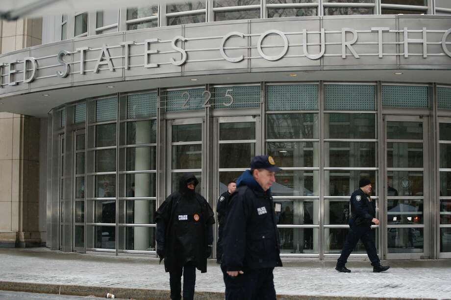 Members of Homeland Security Service patrol outside the US Federal Courthouse after a guilty verdict was announced at the trial for Joaquin 'El Chapo' Guzman on February 12, 2019 in Brooklyn, New York. (Photo by KENA BETANCUR / AFP)        (Photo credit should read KENA BETANCUR/AFP/Getty Images) Photo: KENA BETANCUR/AFP/Getty Images