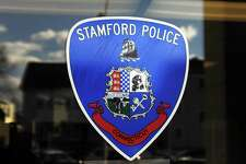 Stamford police cars in Stamford, Conn. on Monday, Feb. 13, 2017.