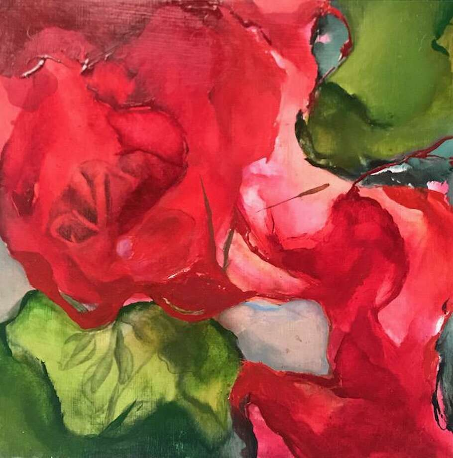 "Tara Kovach's ""Geraniums"" is included in ""Migrating Colors,"" the City of Norwalk Parking Authority's Maritime Garage Gallery's latest exhibit. Photo: Contributed Photo"