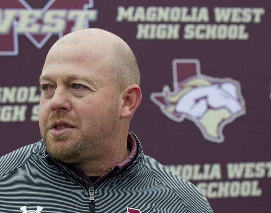 Magnolia West head football coach J.D. Berna was has been promoted to Magnolia ISD athletic director. Photo: Jason Fochtman, Houston Chronicle / Staff Photographer / © 2018 Houston Chronicle