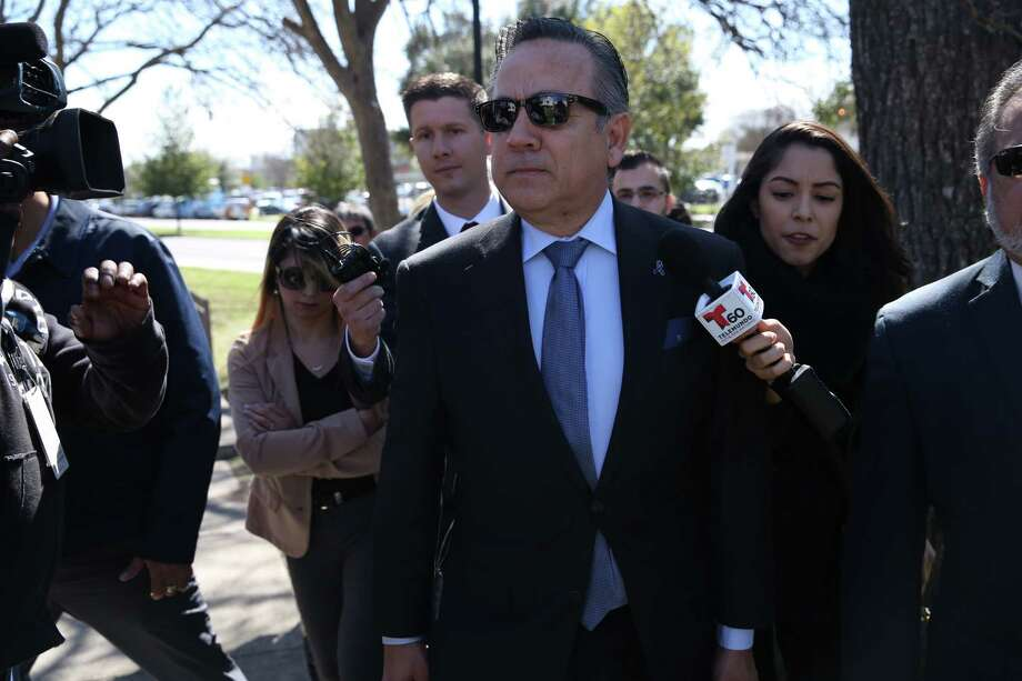 Former Texas State Senator and now convicted felon Carlos Uresti arrives at the Federal Courthouse for sentencing on his second trial, Tuesday, Feb. 12, 2019. Uresti pled guilty in a public corruption case out of Reeves County in West Texas. Uresti faces up to five years in prison, but any term he receives may run concurrently with his 12-year sentence for his role in a now-defunct oil and gas company that defrauded investors. Photo: Jerry Lara, San Antonio Express-News / 2019 San Antonio Express-News