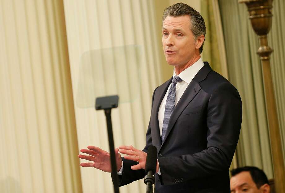 Gov. Gavin Newsom delivers the State of the State address at the California State Capitol on Tuesday, Feb. 12, 2019, in Sacramento. Photo: Santiago Mejia, The Chronicle