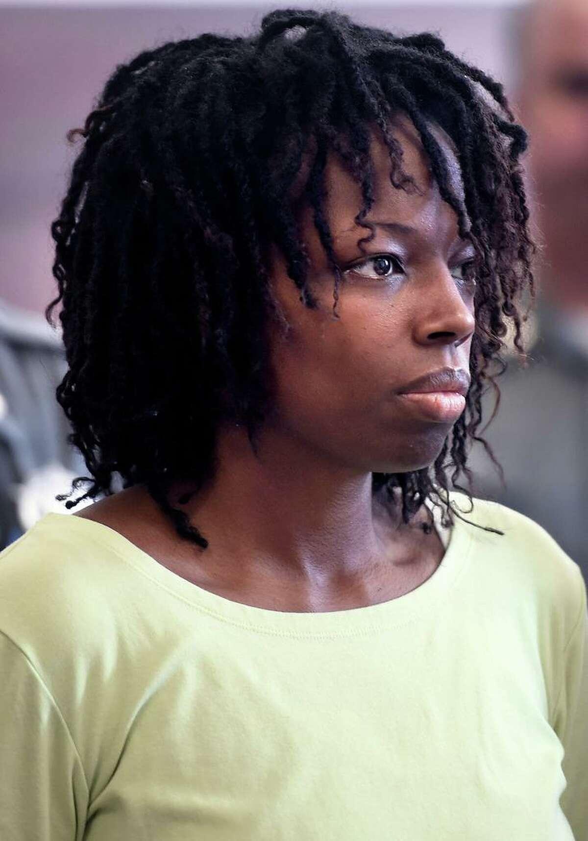 LeRoya Moore of East Haven is arraigned in Superior Court in New Haven in June 2015.