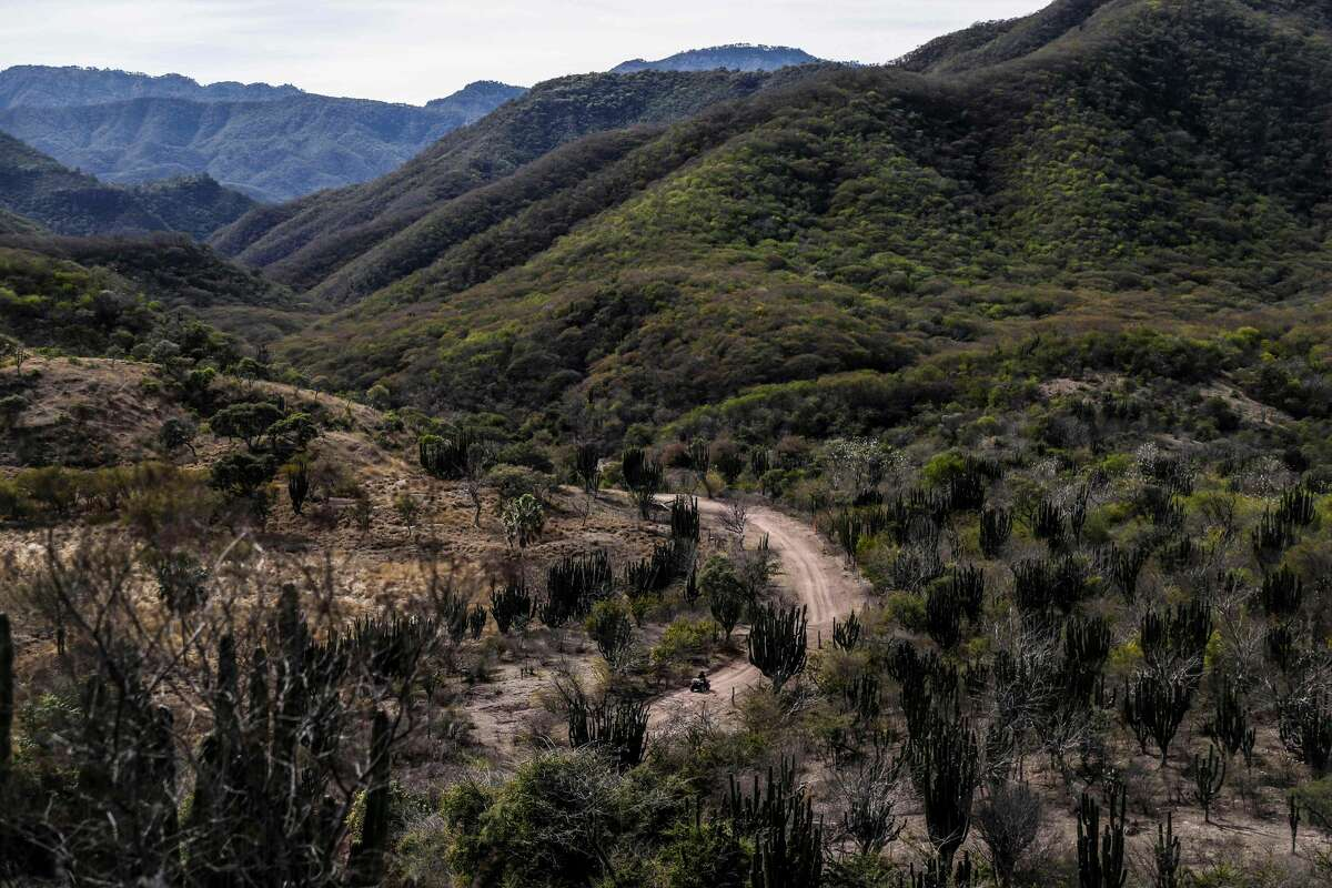 View of the mountains in Badiraguato -Mexican mobster Joaquin