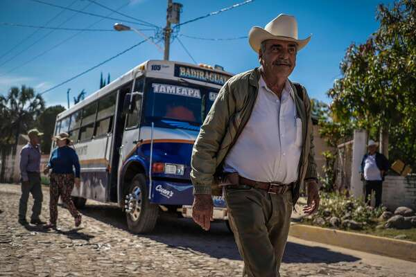"A man walks in Badiraguato -Mexican mobster Joaquin ""El Chapo"" Guzman's hometown-, Sinaloa State, Mexico on February 8, 2019. - If ""El Chapo"" returned to Badiraguato it would be a relief for its inhabitants because, according to them, there was neither poverty nor violence when he was there. Guzman was found guilty Tuesday by a New York jury of crimes spanning a quarter of a century as head of one of the world's most powerful drugs gangs. (Photo by RASHIDE FRIAS / AFP)RASHIDE FRIAS/AFP/Getty Images"