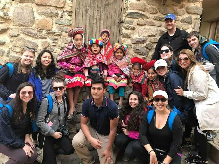 Brien McMahon High School students in Cusco, Peru, in February 2018. Photo: Contributed Photo