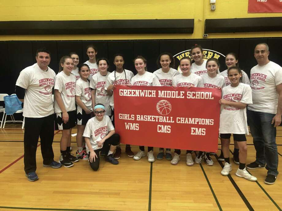 Western Middle School won the girls title at the Middle School Town Basketball Championships, held recently at Western Middle School. Western Middle School defeated Eastern Middle School for the title. Photo: Contributed Photo / Greenwich Time Contributed