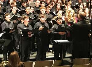 Connor Sainz, second from left, of New Milford and a student at Marvelwood School in Kent, recently participated in the Northern Region High School Festival Chorus, sponsored by the Connecticut Music Educators' Association.