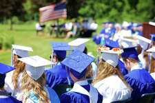 File photo of a Shepaug Valley School commencement ceremony.