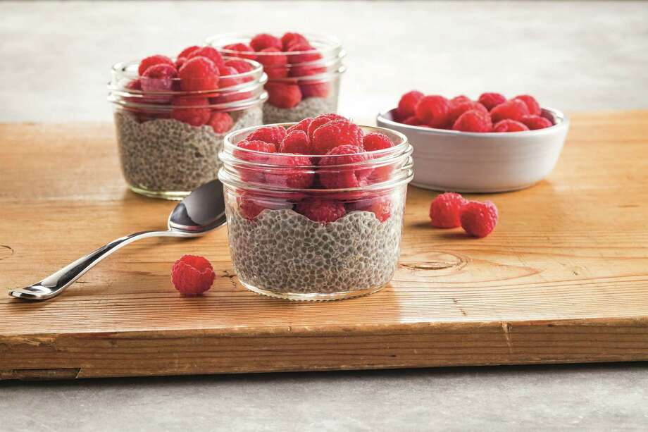 Lemon Raspberry Chia Seed Pudding packs in heart-healthy omega-3 fatty acids as well as protein and fiber. Photo: Mittera Creative / / Eric Hinders